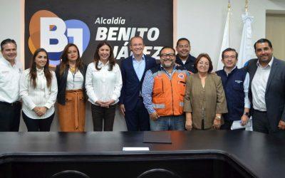 Firman Alcaldía Benito Juárez e IMSS convenio de colaboración en materia de protección civil, seguridad y servicios urbanos