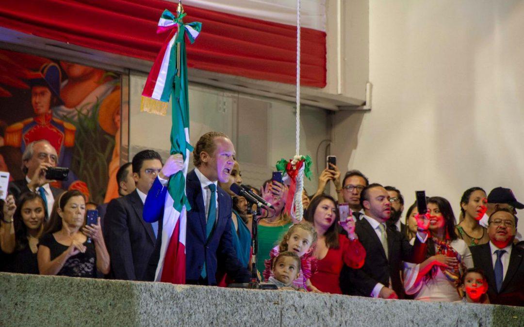 Encabeza alcalde Santiago Taboada el Grito de Independencia en Benito Juárez