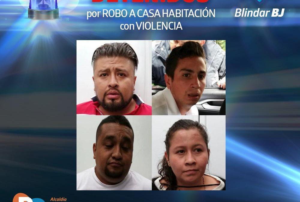 Elementos del Equipo de Proximidad Blindar BJ detienen a integrantes de peligrosa banda de robo a casa habitación en la Del Valle