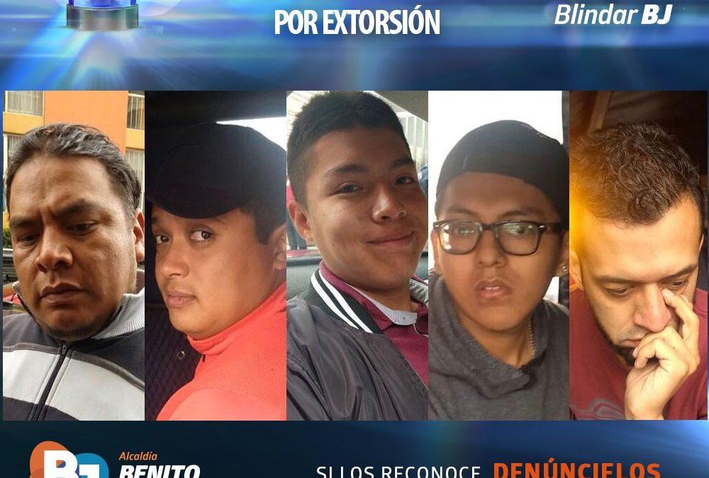 Detiene a cinco extorsionadores Equipo de Proximidad Blindar BJ en Santa Cruz Atoyac