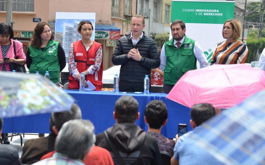 Encabeza alcalde Santiago Taboada inició de reconstrucción de edificios demolidos en Narvarte
