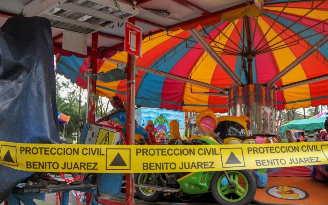 Suspende Alcaldía Benito Juárez feria del parque de Los Venados por medidas de protección civil