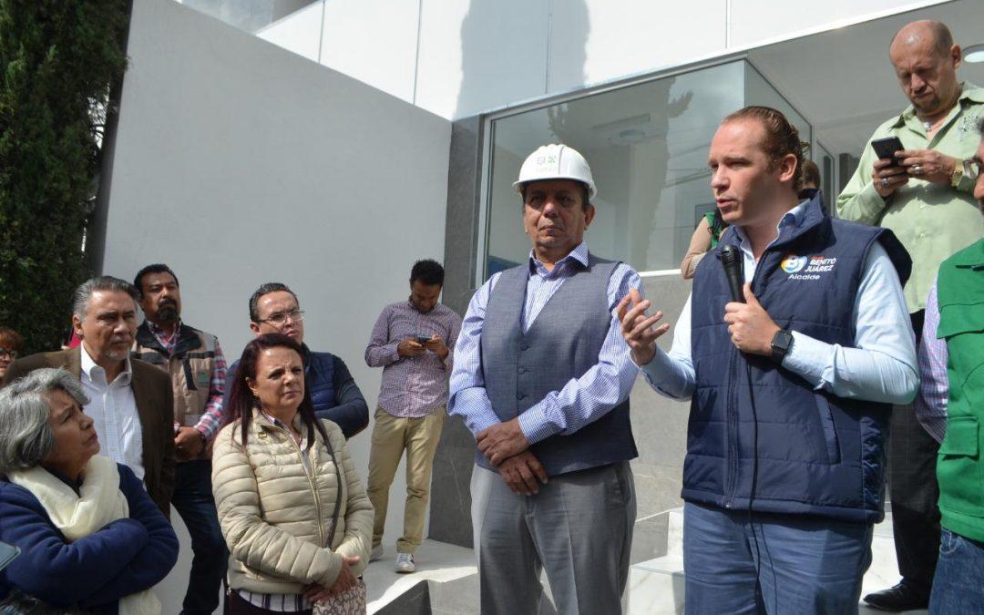Alcalde Santiago Taboada entrega dos edificios rehabilitados que resultaron dañados el 19-S