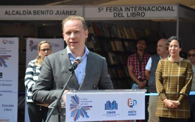Inaugura alcalde Santiago Taboada 5ta Feria Internacional del Libro Benito Juárez 2019