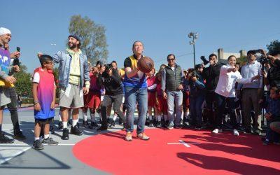 Inaugura alcalde Santiago Taboada dos canchas públicas de básquetbol únicas en Latinoamérica